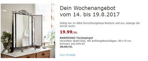 IKEA KARMSUND Tischspiegel, 80×74 cm, schwarz - jetzt 50% billiger