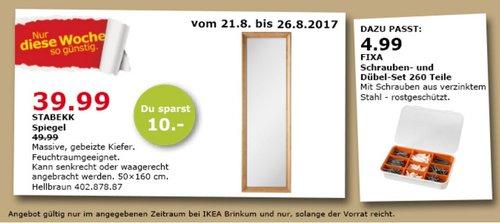 IKEA STABEKK Spiegel, 50x160 cm - jetzt 20% billiger
