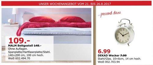 IKEA MALM Bettgestell, 140x200 cm, 100 cm hoch - jetzt 27% billiger