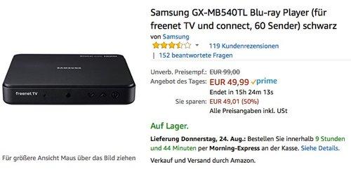 Samsung GX-MB540TL Media BoxLite freenet TV DVB-T2 HD Receiver - jetzt 18% billiger