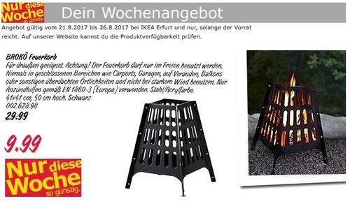 IKEA BROKÖ Feuerkorb, 41x41 cm, 50 cm hoch - jetzt 67% billiger