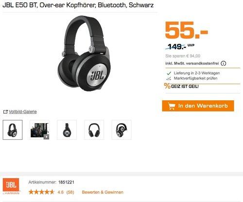 JBL E50 BT Wireless Bluetooth Over-Ear Stereo-Kopfhörer - jetzt 48% billiger