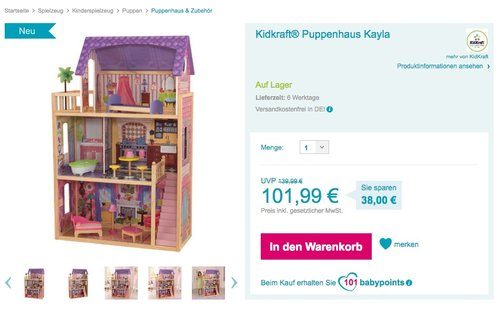 KidKraft 65092 - Puppenhaus Kayla - jetzt 7% billiger