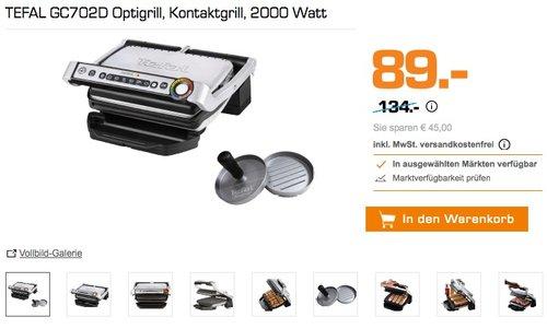 Tefal GC702D Optigrill - jetzt 26% billiger