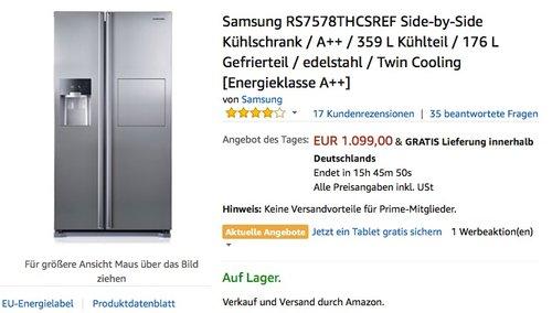 Samsung RS7578THCSREF Side-by-Side Kühlschrank - jetzt 4% billiger