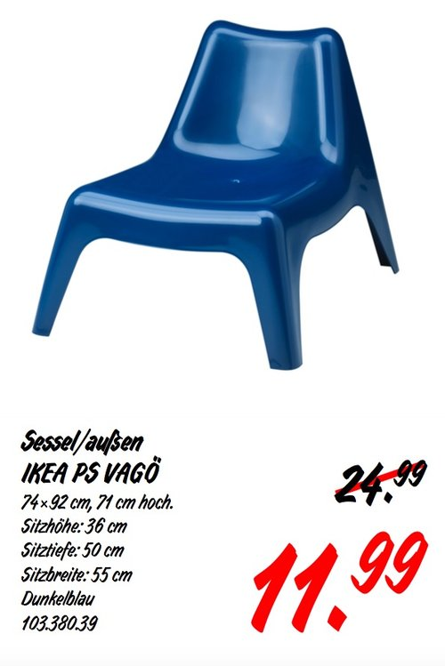 IKEA PS VAGÖ Sessel/ außen - jetzt 52% billiger