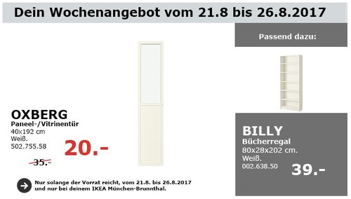 IKEA OXBERG Paneel-/Vitrinetür, 40x192 cm, weiß - jetzt 43% billiger
