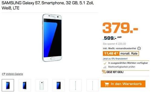 SAMSUNG Galaxy S7, Smartphone, 32 GB, 5.1 Zoll, LTE  - jetzt 12% billiger