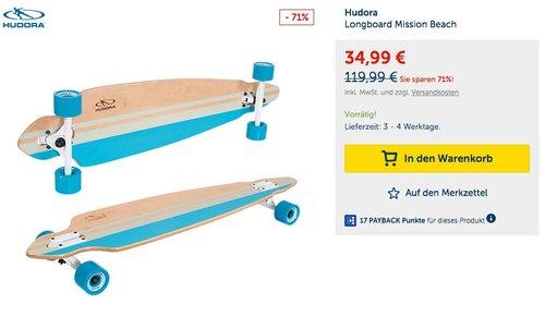 HUDORA Longboard Mission Beach - jetzt 43% billiger