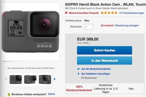 GOPRO Hero5 Black Action Cam - jetzt 15% billiger