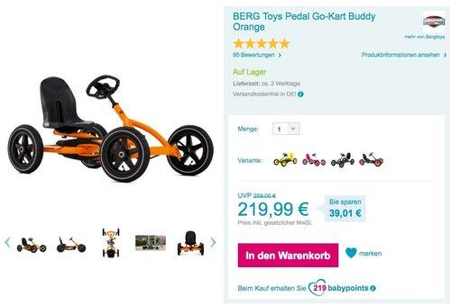 BERG Toys Pedal Go-Kart Buddy Orange - jetzt 2% billiger