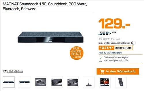 MAGNAT Sounddeck 150, Bluetooth und HDMI - jetzt 42% billiger