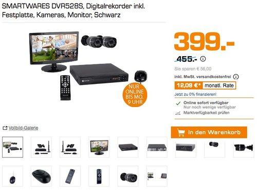 Smartwares 8 Kanal Video Überwachungsset inklusive 500 GB Festplatte, Monitor, Farbkameras für den Innen und Außenbereich, DVR528S - jetzt 12% billiger