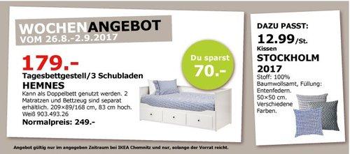 IKEA HEMNES Tagesbettgestell, 209x89/168 cm, 83 cm hoch, weiß - jetzt 28% billiger