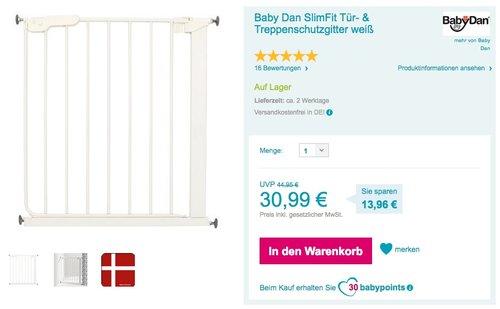 Baby Dan SlimFit Tür- & Treppenschutzgitter weiß - jetzt 20% billiger