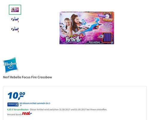 Nerf Rebelle Focus Fire Crossbow - jetzt 46% billiger