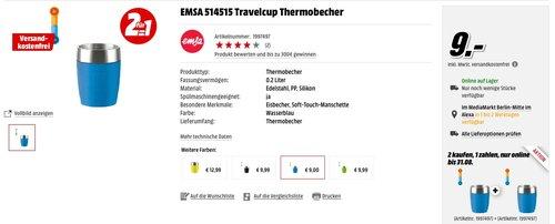 2 x EMSA 514515 Travelcup 0.2 Liter Thermobecher Blau - jetzt 44% billiger