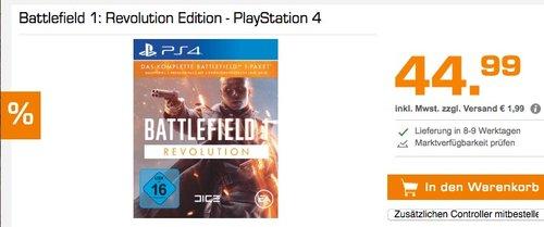 Battlefield 1: Revolution Edition - PlayStation 4 - jetzt 16% billiger