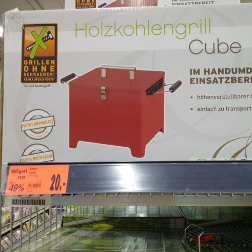 "Tepro Holzkohlengrill ""Cube"" - jetzt 50% billiger"