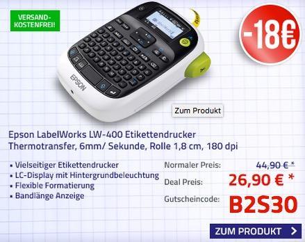 Epson LabelWorks LW-400 Etikettendrucker (180dpi) - jetzt 40% billiger