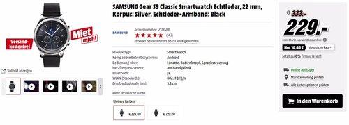 SAMSUNG Gear S3 Classic Smartwatch - jetzt 23% billiger