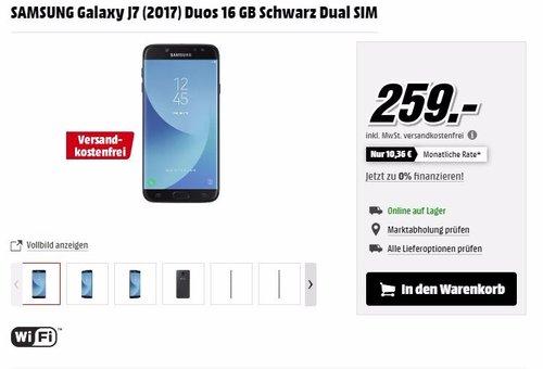 SAMSUNG Galaxy J7 (2017) Duos 16 GB - jetzt 6% billiger