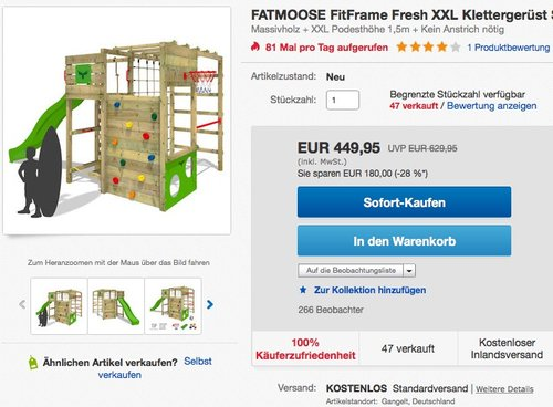 Fatmoose FitFrame XXL – Klettergerüst - jetzt 13% billiger