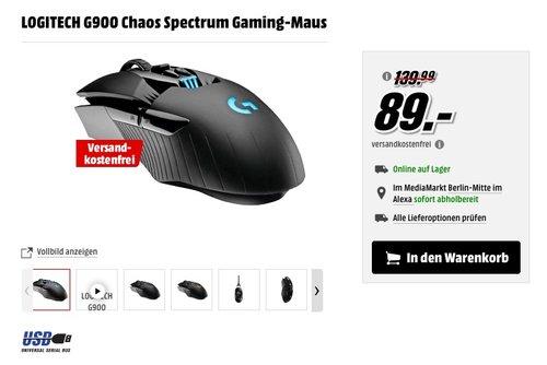 LOGITECH G900 Chaos Spectrum Gaming-Maus - jetzt 22% billiger