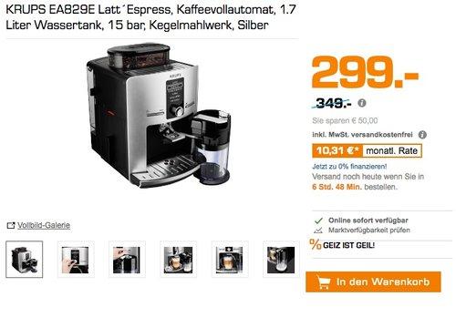 KRUPS EA829E Kaffeevollautomat Latt´Espress One-Touch-Funktion (1,7 l, 15 bar, LC Display)  - jetzt 14% billiger