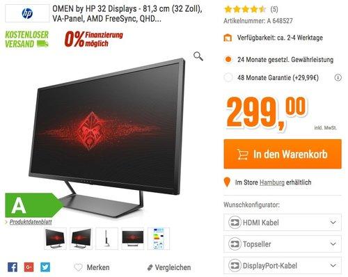 HP Omen W9S97AA 81,28 cm (32 zoll) Monitor  - jetzt 25% billiger