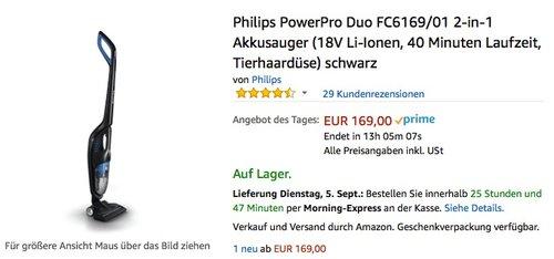 Philips PowerPro Duo FC6169/01 2-in-1 Akkusauger - jetzt 23% billiger