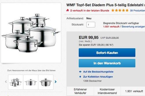 WMF Topf-Set Diadem Plus 5-teilig - jetzt 20% billiger