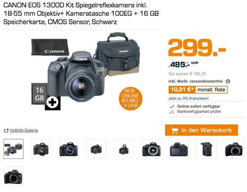 CANON EOS 1300D Kit Spiegelreflexkamera - jetzt 12% billiger