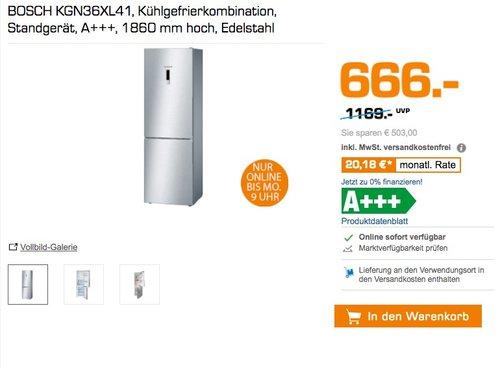Bosch KGN36XL41 Serie 4 Kühl-Gefrier-Kombination, A+++ - jetzt 16% billiger