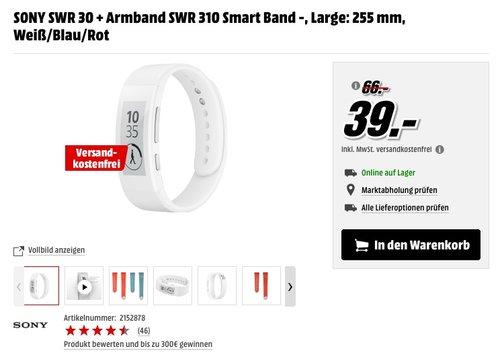 Sony Mobile SWR30 SmartBand Talk Fitness- und Aktivitätstracker - jetzt 38% billiger