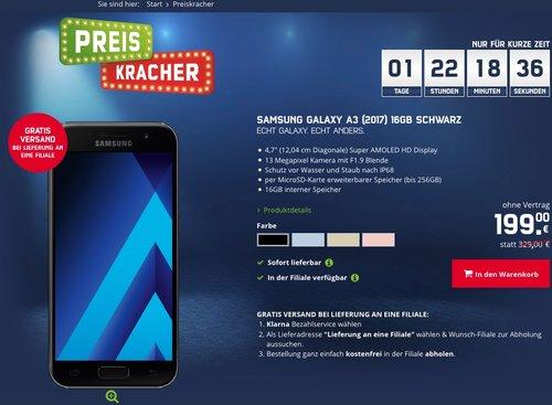 Samsung Galaxy A3 (2017) Smartphone (12,04 cm (4,7 Zoll) Touch-Display, 16 GB Speicher - jetzt 9% billiger