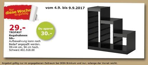 IKEA TROFAST Regalrahmen, 99x44 cm, 94 cm hoch, schwarz - jetzt 51% billiger