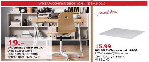 IKEA VÄGSBERG Sitzschale, 46x47 cm, 40 cm hoch. Eichenfurnier - jetzt 34% billiger