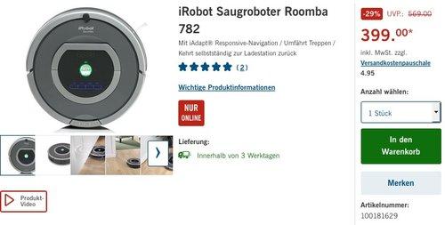 iRobot R782 Staubsaug-Roboter (Raum-zu-Raum Funktion, Füllstandanzeige) grau - jetzt 13% billiger