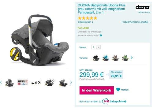 Doona plus Babyschale & Travelsystem 2in1 - jetzt 21% billiger