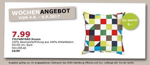 IKEA TULPANTRÄD Kissen, 50x50 cm, bunt - jetzt 38% billiger