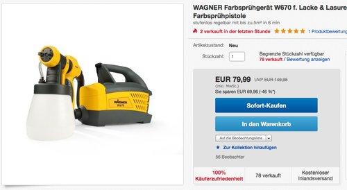 WAGNER Farbsprühsystem W 670 - jetzt 20% billiger