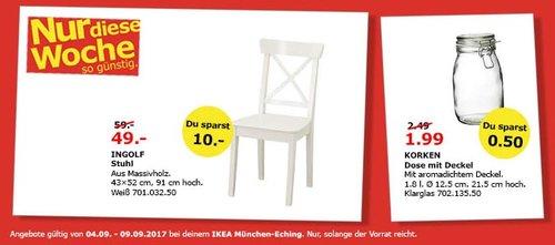IKEA INGOLF Stuhl, 43x52cm, 91 cm hoch. Massivholz - jetzt 17% billiger