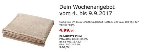 IKEA ELSABRITT Plaid, 130x170 cm, beige oder grau - jetzt 38% billiger