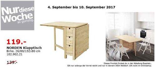 Ikea Norden Klapptisch Weiß.Ikea Norden Klapptisch 26 89 152x80 Cm B Für 119 00 14