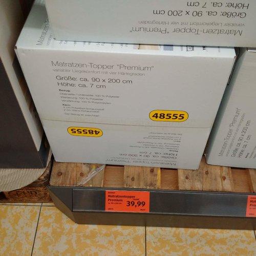 """Matratzen-Topper """"Premium"""", 90x200 cm, 7 cm hoch - jetzt 47% billiger"""