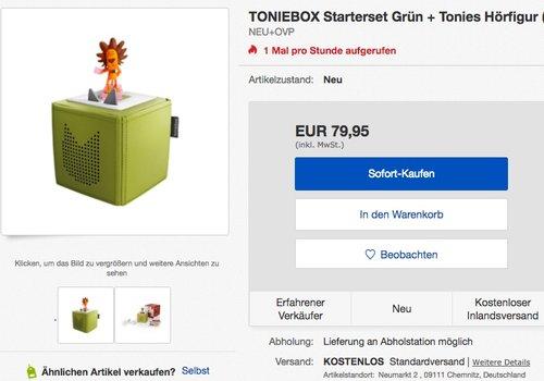 Toniebox Starterset Grün mit Hörfigur Löwe - jetzt 10% billiger