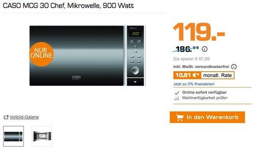 CASO MCG 30 Chef, Mikrowelle, 900 Watt - jetzt 31% billiger