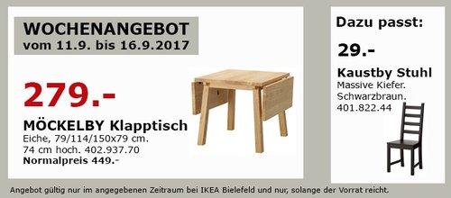 IKEA MÖCKELBY Klapptisch, Eiche - jetzt 38% billiger