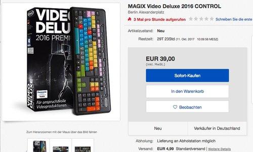 MAGIX Video deluxe 2016 Control - jetzt 50% billiger